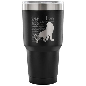 Leo Zodiac Astrology Insulated Coffee Travel Mug 30 oz Stainless Steel Tumbler