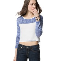 Colorblock Cropped Knit Top