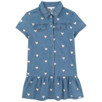 Marc Jacobs Girls Blue Denim with Hearts Dress (Mini-Me)