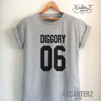 Diggory Shirt DIGGORY06 T-shirt Print on Front or Back Side Unisex Women Men T-shirt White/Black/Grey/Red