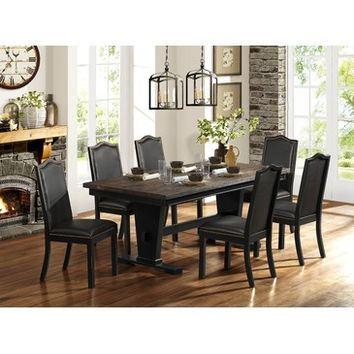 Homelegance Nuland Solid Top Dining Table w/ Trestle Base