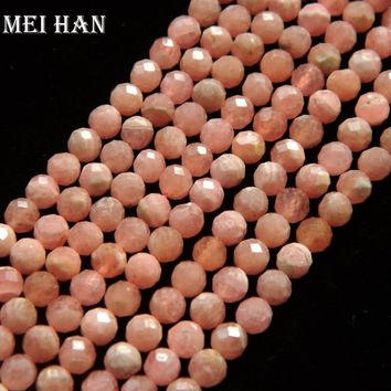 Natural Argentina Rhodochrosite 4mm faceted round loose beads for jewelry making design fashion stone  diy braclet necklace