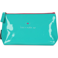 'Kiss + make up' make up bag