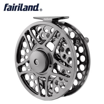 "9/11 110mm//4.33"" 2BB+1RB PRECISION MACHINED fly reel from BAR-STOCK ALUMINUM fly fishing reel with INCOMING CLICK"