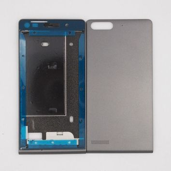DKF4S ZUCZUG New Front Frame LCD Screen Frame Back Door Battery Cover Housing Case For Huawei Ascend G6 With 3M Adhesive