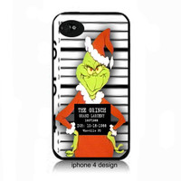 Mr. Grinch , grinch, the grinch Iphone 4 case, the grinch Iphone cell phone accessory cover, 4s iphone case