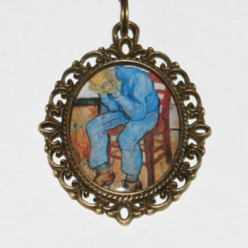 Old Man In Sorrow Pendant Necklace