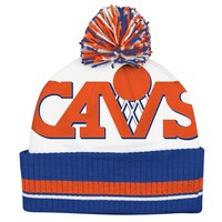 Cleveland Cavaliers Cuffed Knit Cap - Adult, Size: One Size (White)