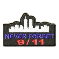 "Embroidered Iron On Patch - Never Forget 9/11 Memorial 3"" x 1.50"" Patch"