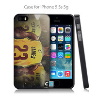 cleveland_cavs_big_3_wallpaper_by_gfxbymega-d7wgk65 Hard Black Skin Case Cover for iPhone 4 4s 4g 5 5s 5g 5c 6 6g 6 Plus