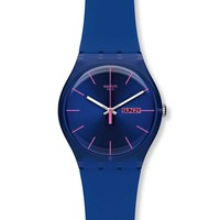 Swatch SUOS702 Unisex Royal Blue Rebel Plastic Blue Dial Resin Strap Watch