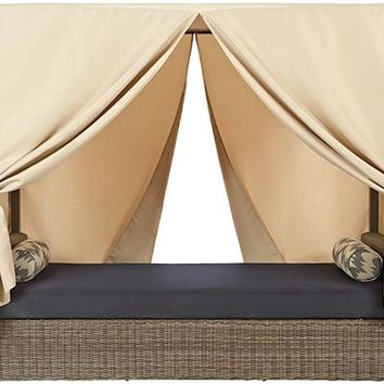 Naples Outdoor Canopy Bed - Outdoor Daybed - Outdoor Canopy Bed - Outdoor Daybed With Canopy | HomeDecorators.com