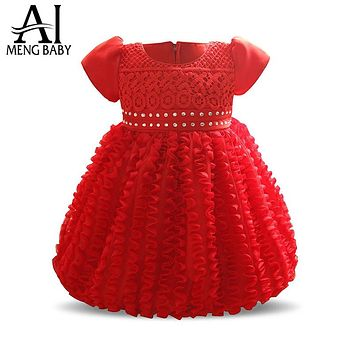 Newborn Little Girl Dress for Baby Girl Outfits Infant Party Dresses