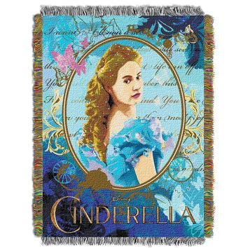 """Disney Cinderella Kindness and Courage Licensed 48""""x 60"""" Woven Tapestry Throw  by The Northwest Company"""