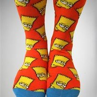 Bart Simpson Crew Socks