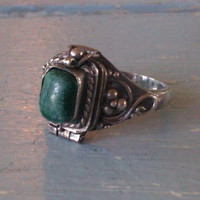 Antique Sterling Silver Poison Ring (Small/Indie Brands)