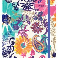 2014 Weekly Planner 6x8 Painted Paisley Flexi Engagment Calendar