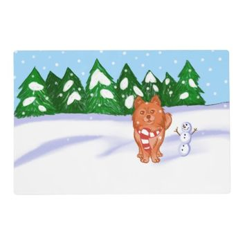 Snow Puppy Placemat
