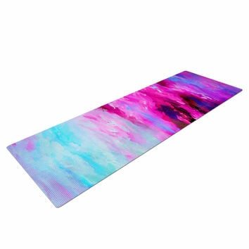 "Ebi Emporium ""Taken By The Undertow 4"" Pink Magenta Yoga Mat"