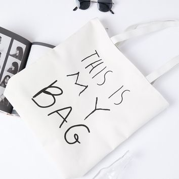 Hands Off Canvas Tote