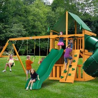 Gorilla Playsets Mountaineer Clubhouse Supreme CG Wooden Swing Set