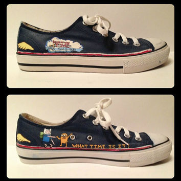 Adventure Time Shoes by RisingRedFox on Etsy