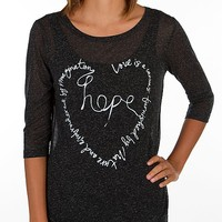 Women's Hope T-Shirt in Grey by Daytrip.