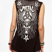 Truly Madly Deeply Distressed Metal Muscle Tee