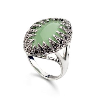 Real Austrian Crystals Classic Vintage pattern New Fashion Rings For women Hot Sale 10350Green