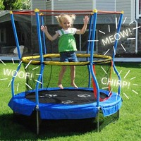 "Skywalker Bounce-N-Learn 55"" Round Trampolines with Safety Enclosure - Walmart.com"