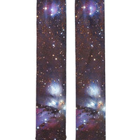 Galaxy Print Crew Socks