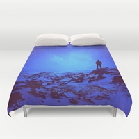 Lost the Moon While Counting Stars III Duvet Cover by Soaring Anchor Designs