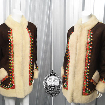 Shop Afghan Embroidered Coat on Wanelo