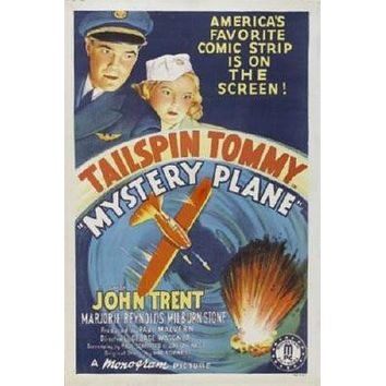 Tailspin Tommy Mystery Plane Movie poster Metal Sign Wall Art 8in x 12in
