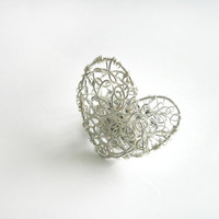 Heart  Ring  Silver by DeliriumAccesories on Etsy    Craft Juice