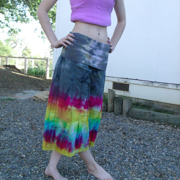 Upcycled Womens Tie Dyed Bloomers-Festival-Yoga Pants
