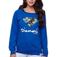 Diamond Supply Co Diamond Crew Fleece - Womens Hoodie - Blue