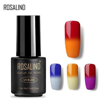 ROSALIND Gel 1S 7ml Temperature Changing Soak off Nail Polish Vernis Semi Permanent Gel Varnish UV LED Nail Art Lacquer