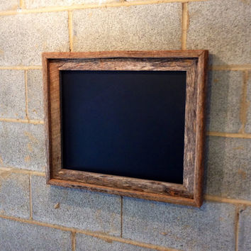 Rustic Framed Chalkboard - Vintage, Reclaimed, Tree Bark, Primitive, Wood, Rustic, Wedding, Engagement, Home Decor, Beach Cottage, Cabin