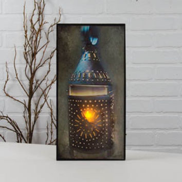 LIGHTED TIN PUNCH LANTERN CANVAS