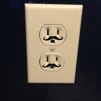 115 Outlet Mustache Decal