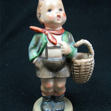"Vintage HUMMEL GOEBEL Figurine #51 ""Village Boy"" TMK2 Full Bell Germany Free Shipping in united states!"