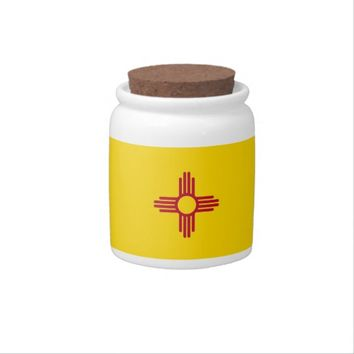 New Mexico State Flag Candy Jar