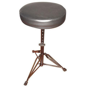 Drum Throne Performance Seat Chair Stool, Height Adjustable, Round