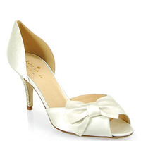 Kate Spade - Shalyn - Satin d'Orsay Pump in Ivory