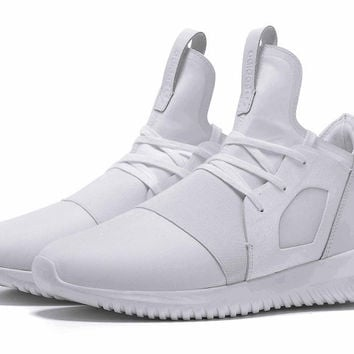 """Adidas"" Tubular Defiant Women Men White Casual Sports Shoes"