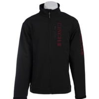 Cinch Men's Black Bonded Jacket with Burgundy Logo