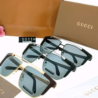 GUCCI 2018 new personality men's driving polarized sunglasses