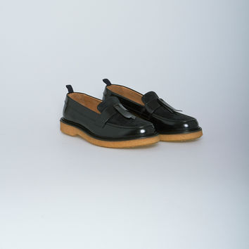 Nahariya Leather Loafer Shoe in Black