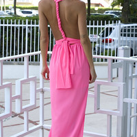 Tricks of the Trade Neon Pink Maxi Dress (more colors)